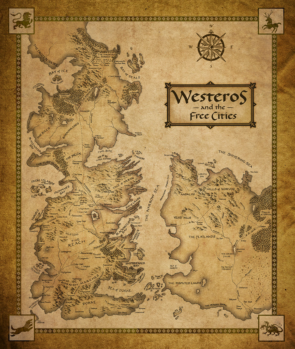Westeros and Essos new map - Optionated